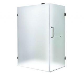 Vigo 36 x 48 Frost/Chrome Shower Enclosure Left —