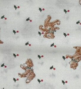 Teddy Bears Small Print VIP Cranston 100 Cotton Fabric 5 yds NR