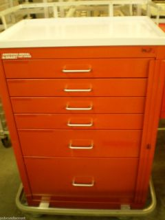 Mobile Hospital Medical Emergency Crash Cart Tool Box Chest 6 Drawer