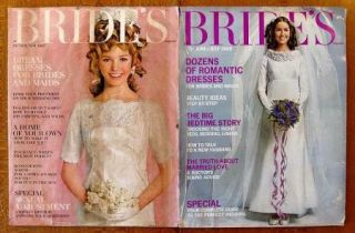 Lot of 6 Brides Magazines Oct 1967 June 1968 Feb March May June 1969