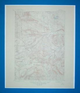 Crandall Quad Wyoming 1893 Color Topo Map