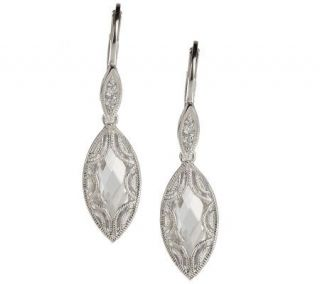 Tacori IV Diamonique Epiphany Marquise Drop Earrings —