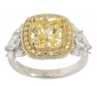 Tacori IV Diamonique Epiphany Framed Cushion Cut Ring —