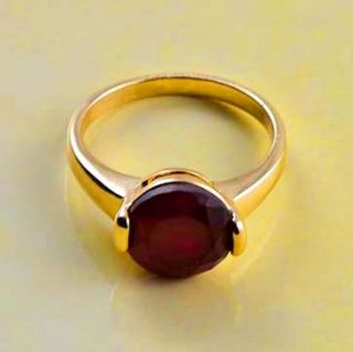 Vintage 9K Gold Filled Red Ruby CZ Womens Ring Size 6