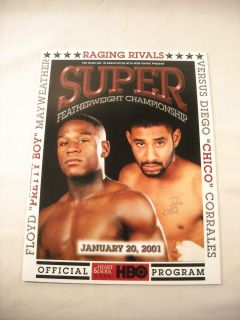 Floyd MAYWEATHER Jr vs Chico Corrales 2001 Original Program incl
