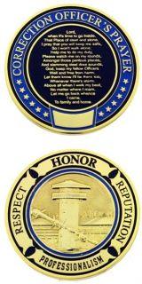 Correction Officer Prayer Challenge Coin