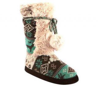 MUK LUKS Jewel Highland Nordic Slipper Boots —