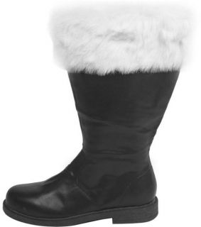 Pair of Mens Santa Claus Costume Outfit Boots 10 11