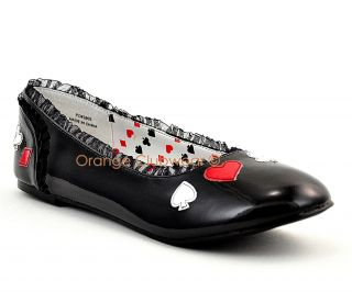 PLEASER Alice Queen of Hearts Halloween Costume Shoes
