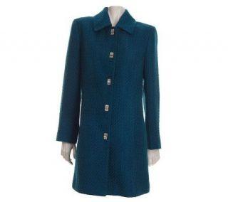Modernist by Guillaume 3/4 Length Wool Blend Coat —