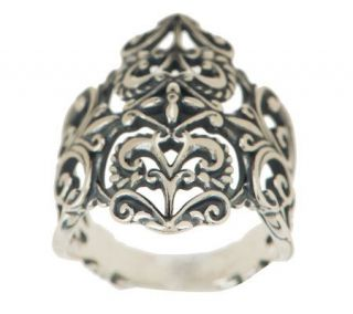 Carolyn Pollack Sterling Silver Heart Ring —
