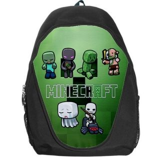 New Item Minecraft Monsters Characters Creepers Backpack Bag