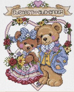 Design Works Counted Cross Stitch Kit I Love You Bears