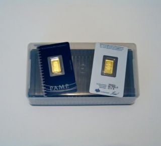 Pamp Suisse Storage Box for 25 Bars 1 Gram to 1 oz Gold Silver