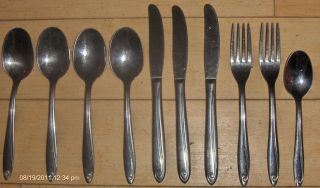 10 PC Crestview by H B Co Stainless Spoon Fork Knife