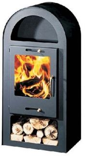 Wood Burning Contemporary Multi Fuel Stove 10KW Henley Wood Burner