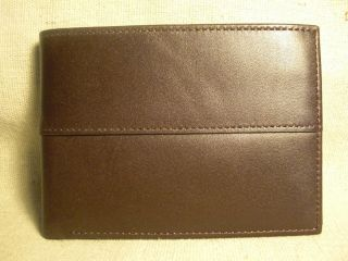 Countess Mara Mens Brown Leather Bifold Wallet