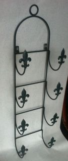 Bath Towels Set Holder French Country Pierre Deux Wall Painted Flor