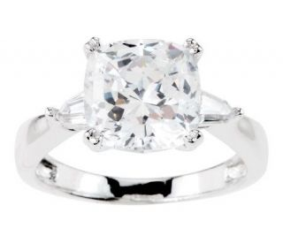 Epiphany Diamonique 100 Facet Cushion Cut Ring   J270377