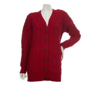 Aran Craft Merino Wool Back to Basics Button Front Cardigan   A228579