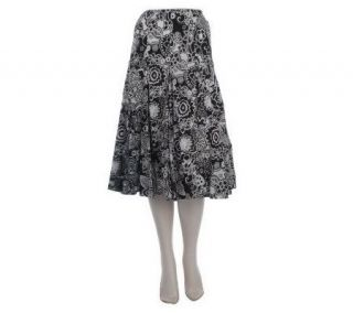 Motto Gored Floral Printed Skirt —