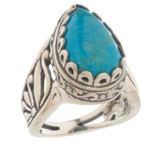 Carolyn Pollack Sterling Reminiscence Turquoise Ring —