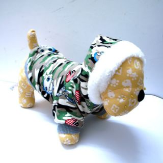 Green Warm Dog Puppy Apparel Coats Clothing Cotton Sweater M