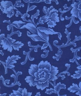 French Court 1 2 yd Blue Wallpaper Floral Timeless Treasures Fabric