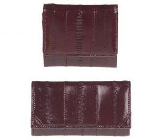 Lee Sands Eelskin Key Case & Coin Purse Set —