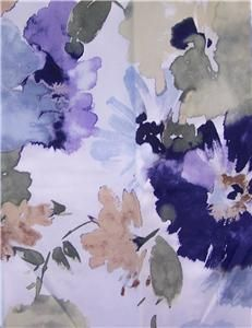Shower Curtain Croscill Watercolor Floral Blue Purple