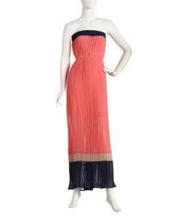Romeo Juliet Couture Plisse Colorblock Maxi Dress