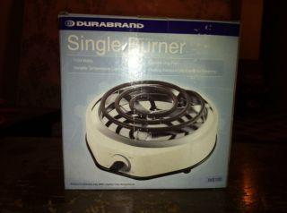 Durabrand Single Burner Hot Plate Cook Top Electric
