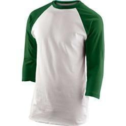 3 4 Sleeve Mens Retro Baseball Blank Shirt Red Navy Grn