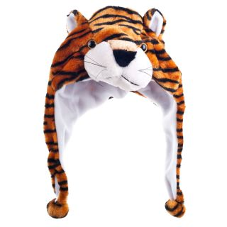 Critter Cap Plush Tiger Animal Hat Childs Head Warmer 100% Polyester