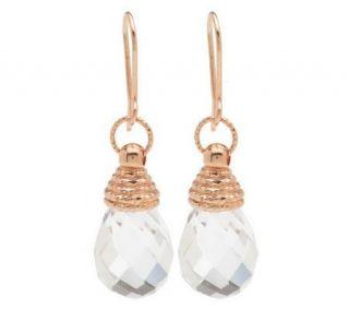 VicenzaGold Crystal Quartz Briolette Drop Earrings 14K Gold —