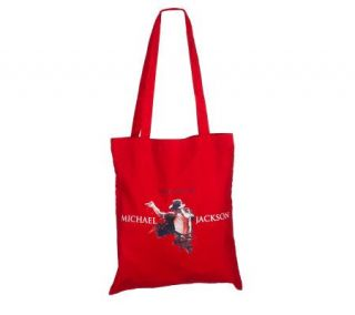 Michael Jackson Red Canvas Tote Bag —