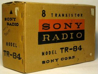 Antique Sony TR 84 Vintage 1959 Japanese Transistor Radio Complete Set