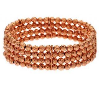 VicenzaSilver Sterling Large Multi Strand Bead Bracelet —