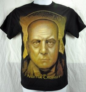 Alister Crowley Mens T Shirt Occult Black Magic Wizard