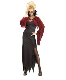 Rubies 887010 Gothic Countess Vampire Costume Dress Jacket Black Red
