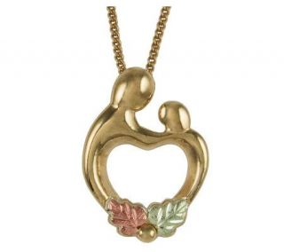 Black Hills Mother and Child Heart Pendant, 10K/12K Gold —