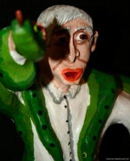 Joe Mccuaig Folk Art Wood Carving Snake Handler Handling Preacher