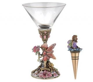 Kirks Folly Fairy Dream Goblet with Bottle Stopper —