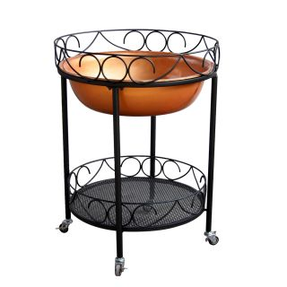Garden Outdoor COPPER ICE CHEST Patio Set Bistro Outside Decor Deck