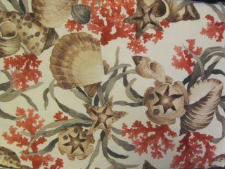 Coral Reef Sea Shells Star Fish Fabric Zipper Umbrella Pole Tablecloth