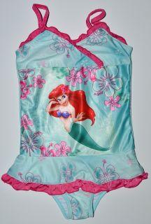 Disney Princess Little Mermaid Ariel Swim Suit Coverup Set s 6