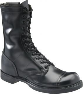 Corcoran Men 10 Side Zipper Jump Military Boot Black Leather 995
