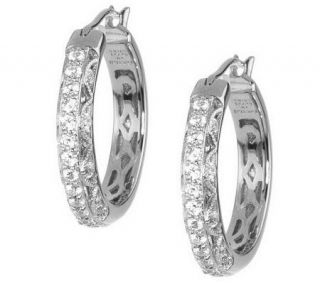 Tacori IV Diamonique Epiphany or 18K Clad Crescent Hoops —