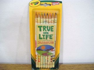 Crayola True to Life Tri Color Tip Colored Pencils 8 PC