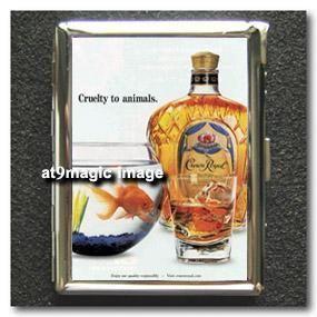 Crown Royal Whisky Cigarette Case Card Holder Lighter